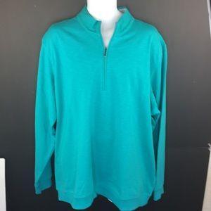 Men's Adipure 1/4 zip Pullover 2XL Blue/Teal